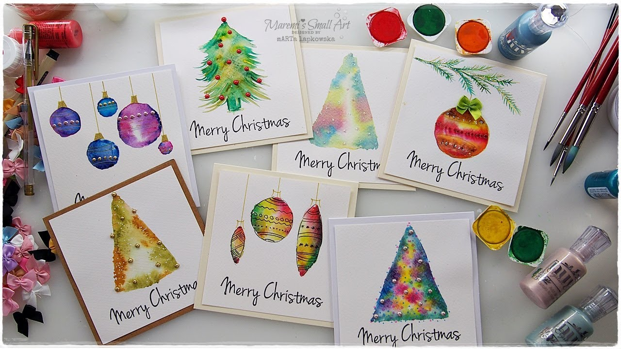 7 Watercolor Christmas Card Ideas