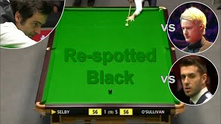 Ronnie O'Sullivan vs Trump, Selby, Robertson | Re-Spotted Black