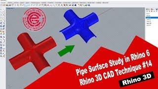 Rhino 3D CAD Technique 15 Pipe Surface Study In Rhino 6 2018