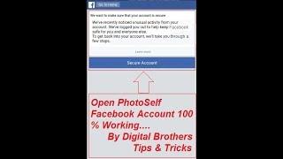 Open Photoself Facebook Account 100% Working [English]