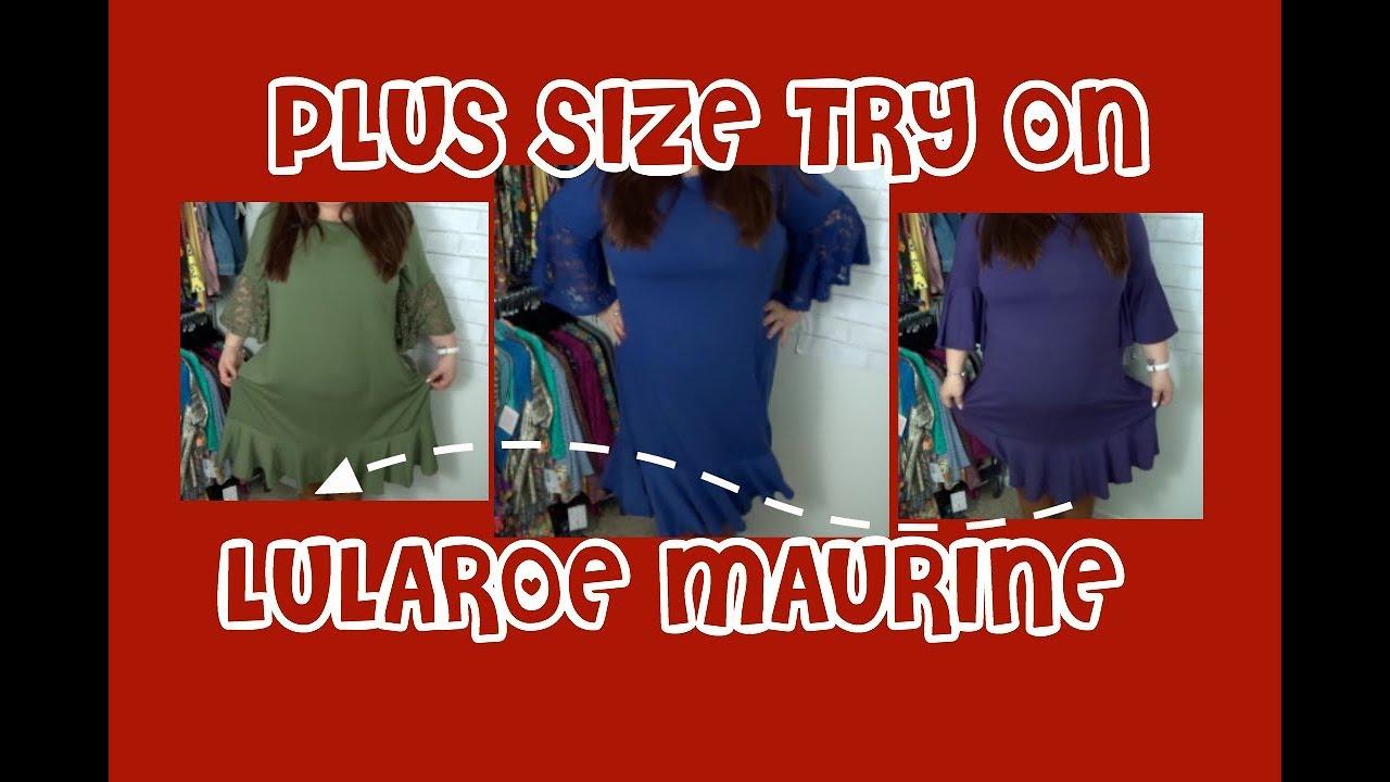 4b0b289ab17 PLUS SIZE TRY ON OF LULAROE MAURINE - YouTube