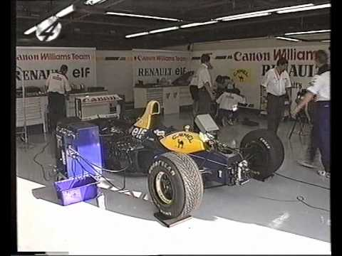 Williams active suspension video 1993