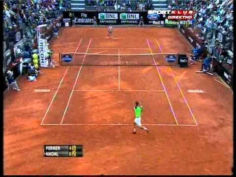 Rafael Nadal vs David Ferrer - ATP Rome 2013. Highlights ...
