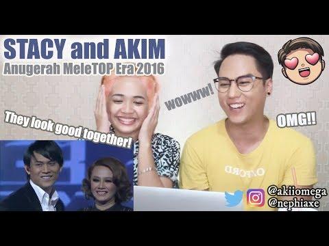 Anugerah MeleTOP Era 2016: Akim & Stacy   REACTION