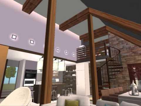Modern Attic House - YouTube