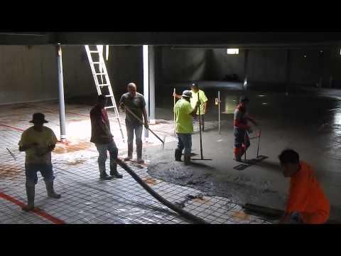 Basement Concrete Slab Poured on Aug.20, 2014