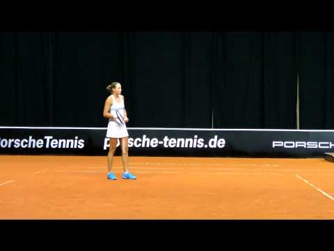 Oksana Kalashnikova & Olaru playing doubles @ Porsche Tennis Grand Stuttgart 2014