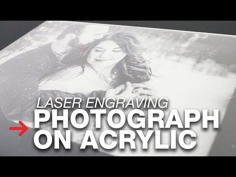 Laser Engraving Photo on Acrylic | Photograph Engraving