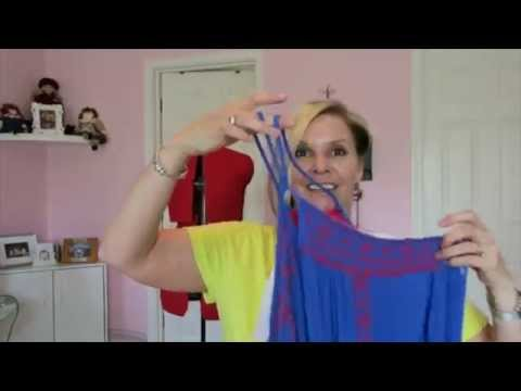 Sew a built in bra to a halter dress refashion diy project