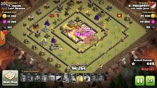 Tips Clash Of Clans TH 10: meratakan (3 star) base war type 18 menggunakan trops GoVaWiz
