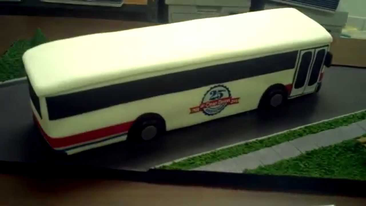 How To Make A Bus Cake Youtube
