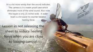 Kayak Sailing lesson -  Releasing the sheet when you are out of control Thumbnail