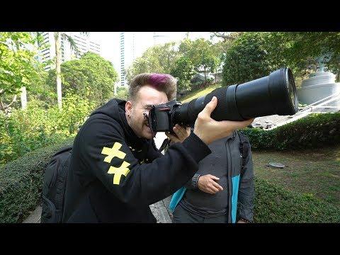 Hong Kong City Tour - Biggest Camera Lens I Ever Held !
