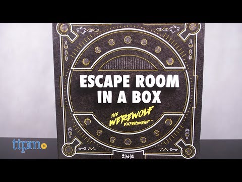 Escape Room in a Box The Werewolf Experiment from Mattel