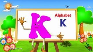 Letter K Song - 3D Animation Learning English Alphabet ABC Songs For children