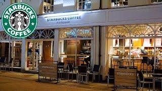 El mejor ambiente de Starbucks con nieve y música de jazz relajante