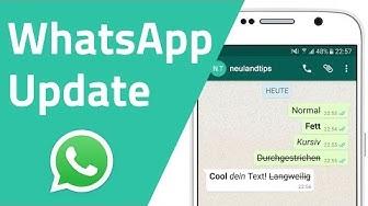 WhatsApp - Wörter fett, kursiv und durchgestrichen