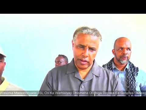 Wasiirka Madaxtooyada Somaliland Oo Soo Kormeeray Dhismaha Dugsiga Dayaxa Ee Gobolka Sanaag