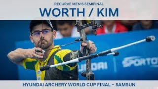 Taylor Worth v Kim Woojin – recurve men's semifinal | Samsun 2018