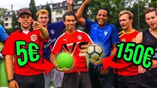 150€ BALL vs 5€ BALL FUßBALL CHALLENGE | BROTATOS