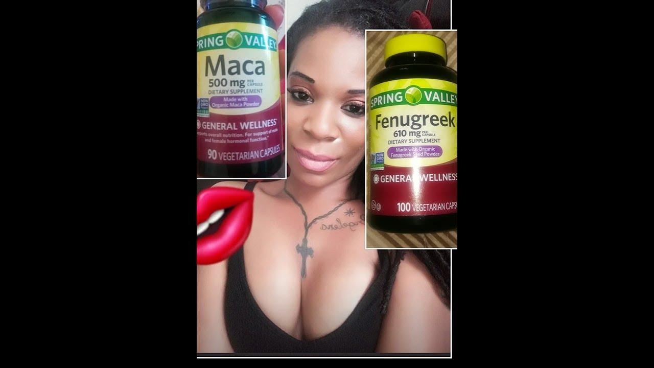 Maca and Fenugreek to increase breast and butt(using fish oil, Vitamin E,  Coconut Oil)