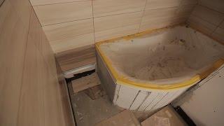 Lepení obkladů na sádrokarton - rekonstrukce bytu