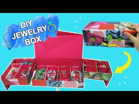 DIY Jewelry Box|How To Make A Jewelry Box, Jewelry Organizer