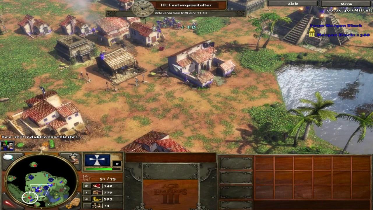Let's Play Age of Empires III // Akt 1/5 Der Azteken Tempel ! [Deutsch]  [Kampagne]