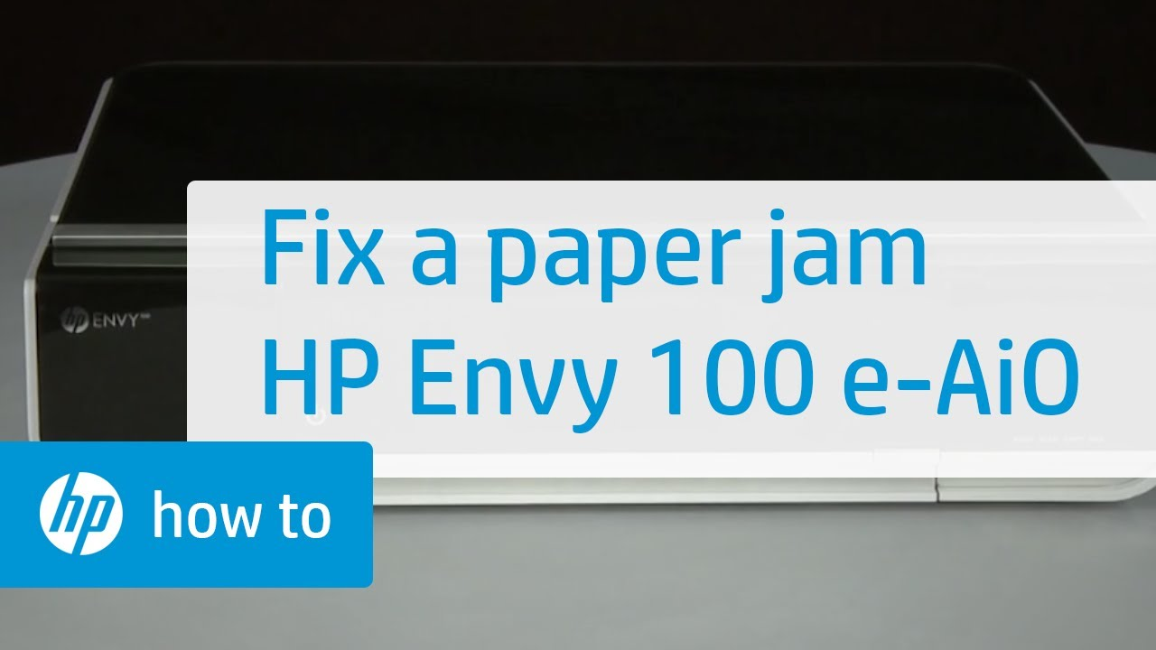 Fixing A Paper Jam Hp Envy 100 E All In One Printer