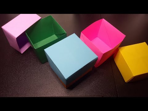 A VERY USEFUL CRAFT: BOX WITH COVER  DIY PAPER GIFT BOX FOR DIFFERENT OCCASIONS