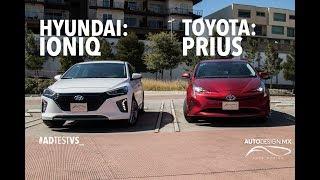 Duelo de h bridos Toyota Prius VS Hyundai Ioniq ADTestVS