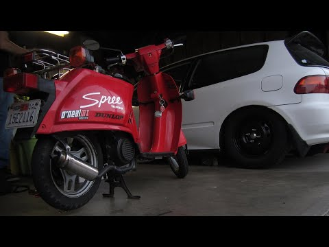 1986 honda spree nq50 not starting youtube rh youtube com
