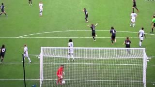 2012年女子サッカー準決勝2点目のゴール