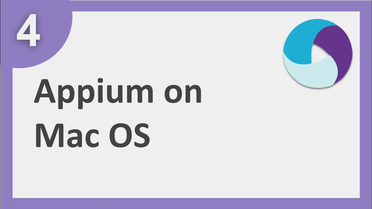 Appium step by step   How to install appium on MacOS