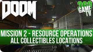 Doom Mission 2 All Collectibles (Secrets, Collectibles, Data Logs, Automaps, Elite Guards, Drones)
