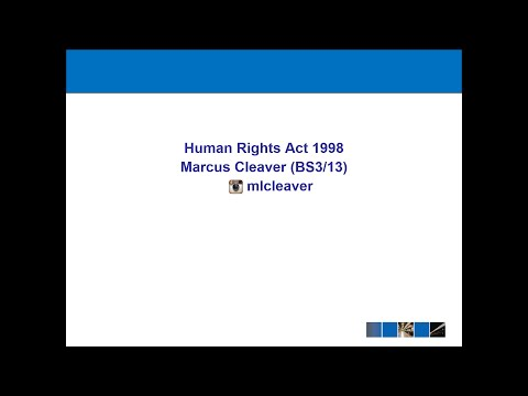 Human Rights Act 1998 Lecture