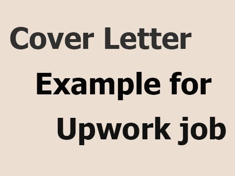 example of cover letter for upwork job - Picture Of A Cover Letter
