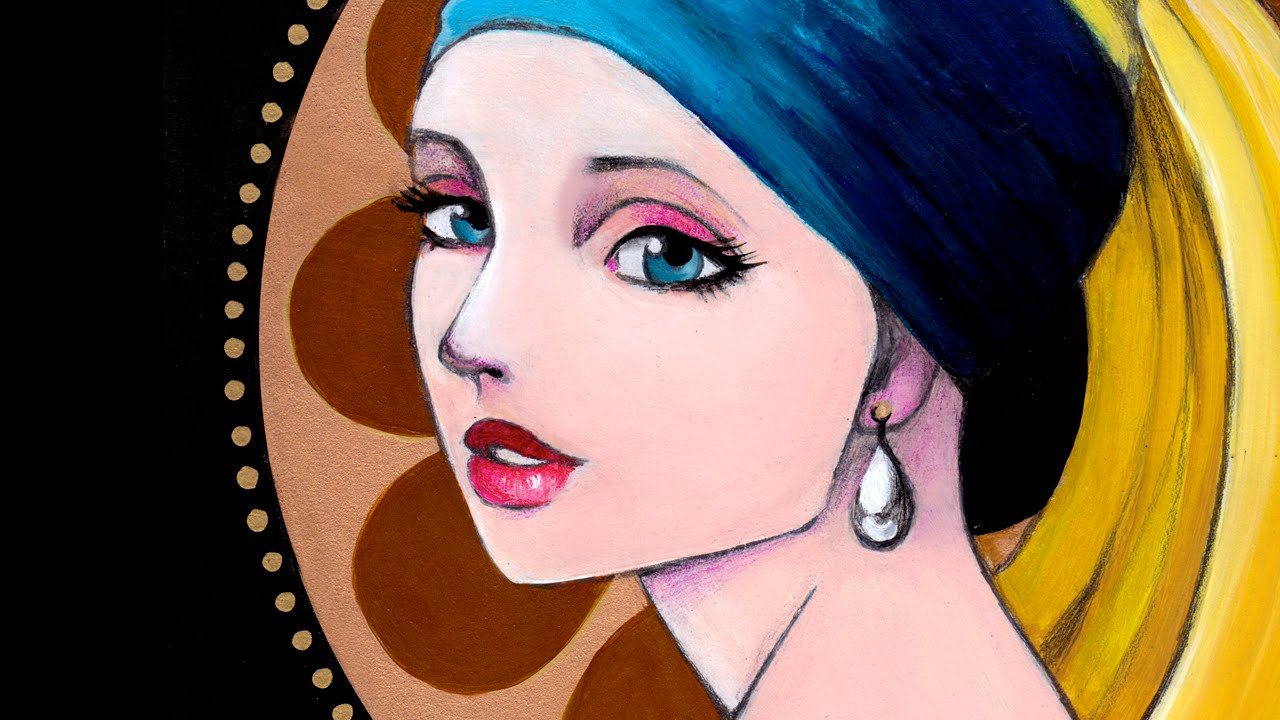 Girl With A Pearl Earring Tribute Speed Painting By Leilani Joy