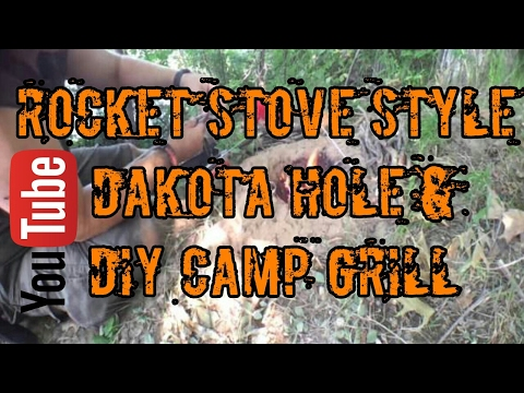 Day Hike Featuring the Rocket Stove Dakota Hole fire pit and DIY Camp Grill