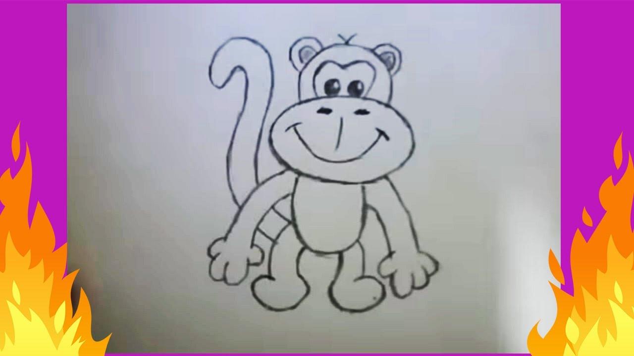 Basit Hayvan Cizimi Maymun Youtube