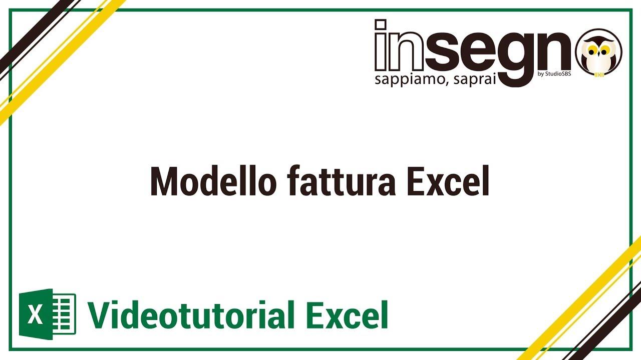 Modello fattura Excel - YouTube