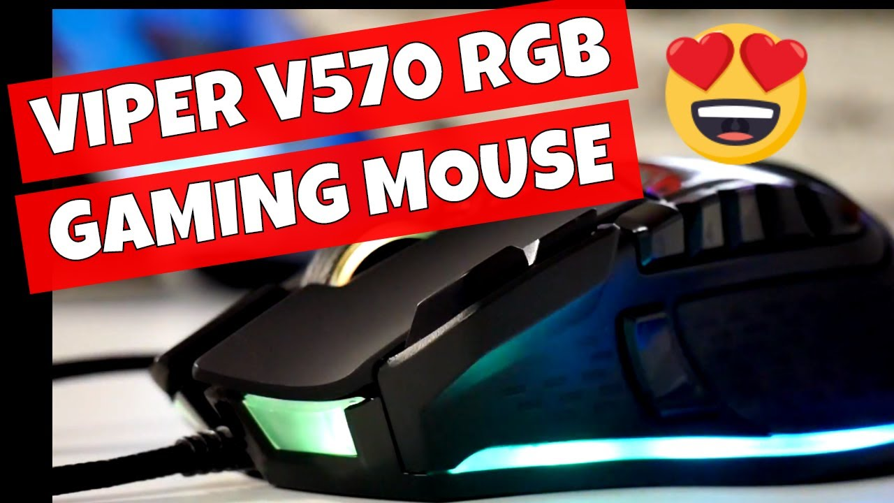 b41b3c11662 Logitech G502 Replacement - Viper Gaming V570 RGB Gaming Mouse Blackout  Edition