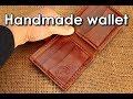 Making handmade Leather wallet folded edges