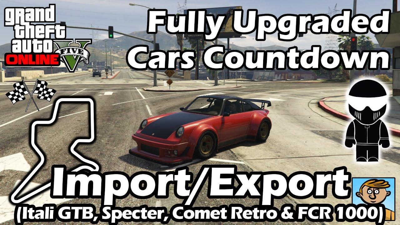 Fastest Import Export Dlc Vehicles Itali Specter Comet Fcr