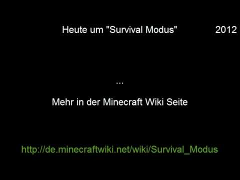 """Minecraft Wiki """"Survival Modus"""""""