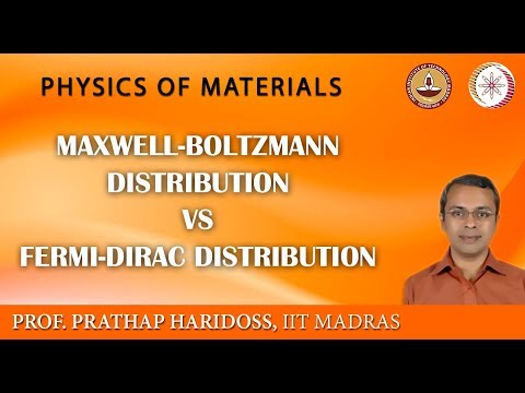 Mod-02 Lec-20 Maxwell-Boltzmann Distribution Vs Fermi-Dirac Distribution