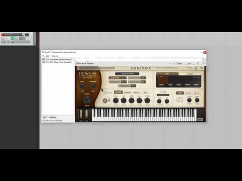 Quick, sloppy demo of Orchestral Companion Strings by Sonivox