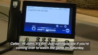 CapTel 2400i: Erasing Answering Machine Messages