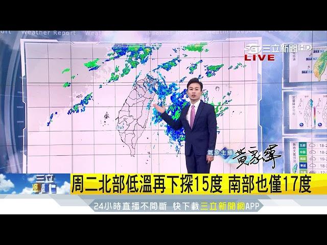 明升溫雨勢緩 下周二超強冷空氣報到 三立準氣象 20181209 三立新聞台