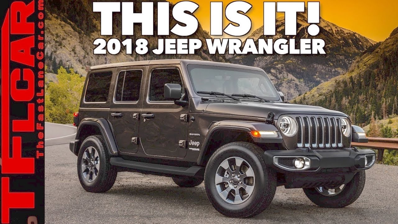 The 2018 Jeep Wrangler Jl Breaks Cover And Here Are Details